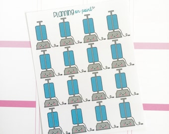 Kawaii Vacuum Cleaner Chores Planner Stickers!