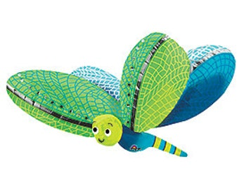 """40"""" Dragonfly foil balloon garden party decoration Rainbow and BlueGreen dragonfly"""