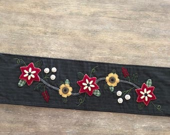 Wool Applique Table Runner