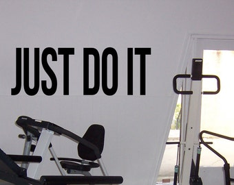 Just Do It Fitness Daily Motivation Vinyl Decal Workout Gym Wall Sticker Sport Home Gym Interior Wall Graphics 14(fgm)