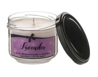 Lavender candle, aromatherapy candle, Relaxing candle, soy wax candle, scented candle, gift for her