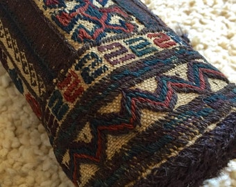Tribal Saddlebag Cushion/Wall Hanging, Double Pouch