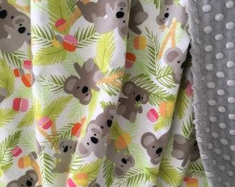 Koala Baby Blanket Etsy