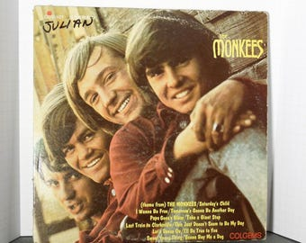 The Monkees. Vintage 1967 Album. Davy. Micky. Mike. Peter. Here They Come Walking Down Your Street. Fond 1960'sChildhood Memories.