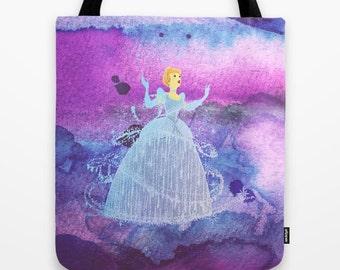 Cinderella Tote Bag in Watercolor