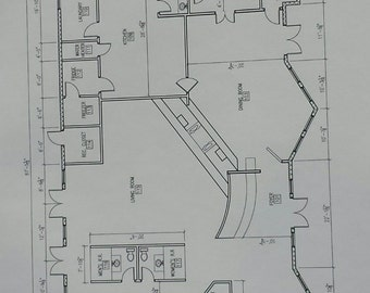 Architectural plans etsy construction plans blue prints house plans architectural blueprints custom house plans architectural print home blueprints malvernweather Image collections