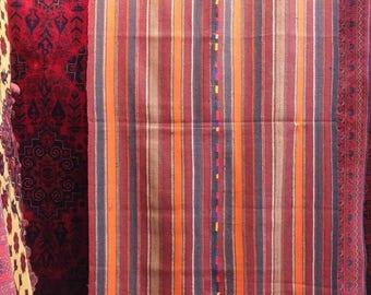Vintage handmade Blanket made by Afghan Tukmen