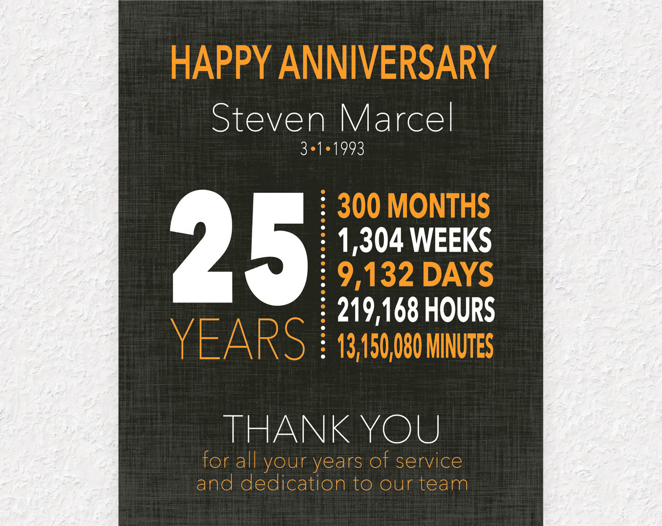 What Gift Do You Give For 25th Wedding Anniversary: 25 Year Work Anniversary Gift 10 Year Anniversary Gift