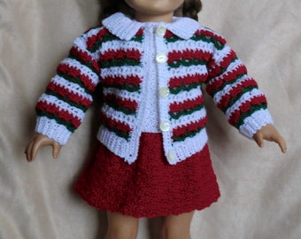 Designer Original Holiday Outfit #224.  For American Girl and 18 Inch Soft Body Dolls