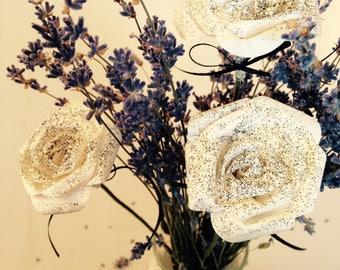 Mini Rose, black glitter