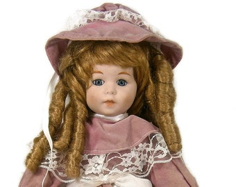 Vintage Porcelain Doll / Victorian Doll / Dynasty Collection / 1980's / Collectible Doll / Victorian Outfit
