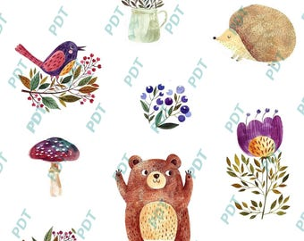 Decals forest animals
