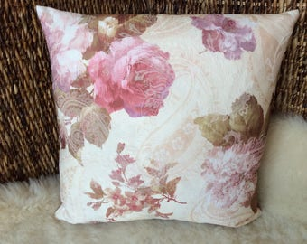 Rustic House pillow rose, pillow cover Cottage