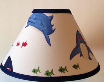 Lampshade etsy shark bite fabric childrens lamp shadeshark keyboard keysfo Gallery
