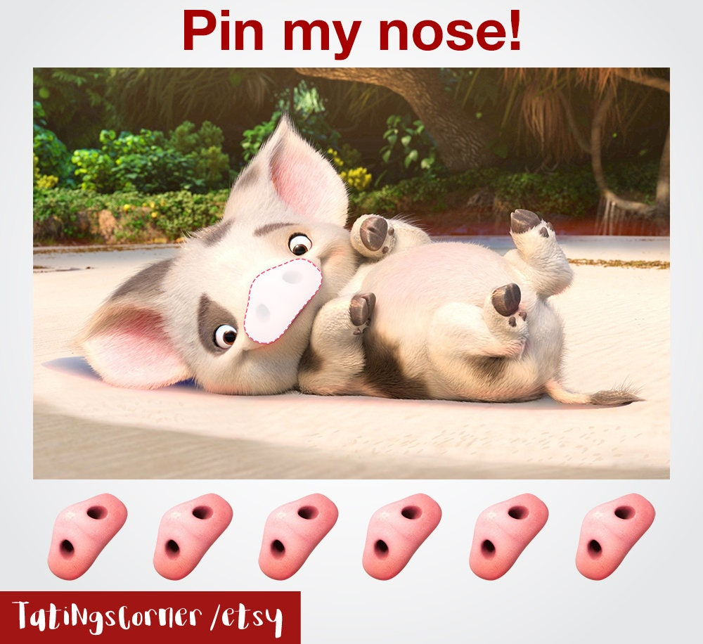Moana Party Game Pua Pin My Nose Props
