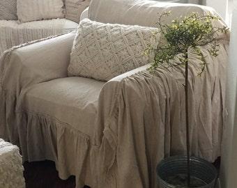 SlipCover Ruffled Slipcover Sofa Cover Sofa Scarf Slip