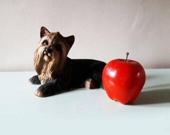 Cute Vintage Porcelain Yorkshire Terrier