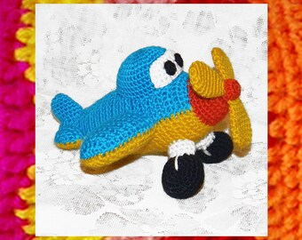 Amigurumi Pattern. Crochet Little Airplane. Toys for boys. Amigurumi toy. DIY. Crochet plane pattern. Amigurumi car toy. Kids crochet.