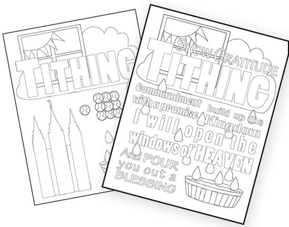Tithing Coloring Pages