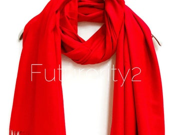 Red Cashmere Scarf /Autumn Winter Scarf /Gifts For Her /Gifts For Mother /Women Scarf/ Men Scarf /Accessories /Christmas Gifts