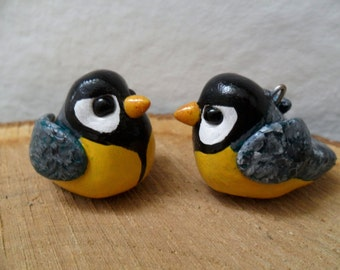 Parus Christmas Tree Ornament - Christmas Tree Decoration - Handmade Clay Parus