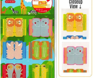 Wild Animal Index Tab Functional Planner Stickers [Sticker Sheets] // Schedule Calendar Monthly Tabs Diary Notebook Lion Elephant Monkey //