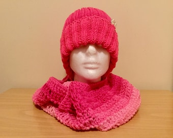 Free shipping-Warm knitted set hats-scarfs-mittens-ready to ship-your color-multicolor-handmade