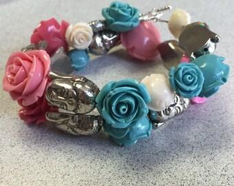 Buddha and rose bracelet.