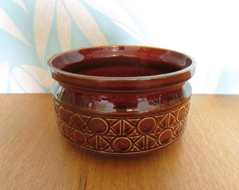 Vintaage Beswick England 2321 brown ceramic geometric pattern tureen/planter