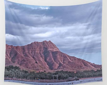 Mountain Tapestry, cloud tapestry, sky wall hanging, Hawaii wall hanging, dorm room decor, dorm tapestry