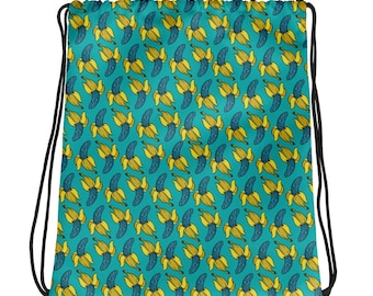 Crazy Bananas Drawstring bag