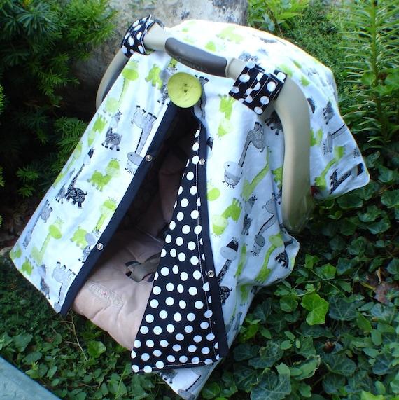 Carseat canopy Giraffe  / Car seat cover / car seat canopy / carseat cover / carseat canopy / nursing cover