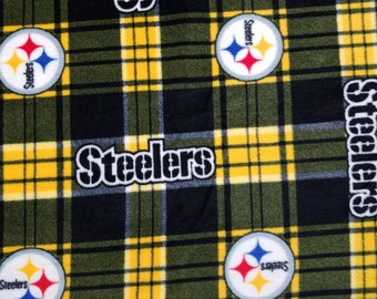Steelers Plaid Fleece Fabric (1 yard 13 inches)