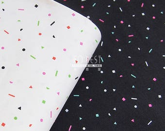 C+S cotton 80'S PARTY BLACK fabric - 50cm