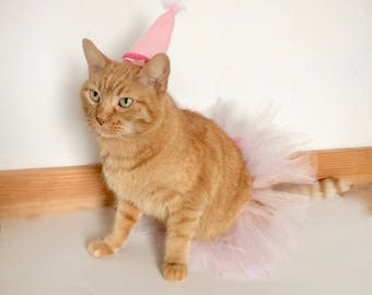 Cat Tutu in Light Pink Cat Birthday Cat Costume
