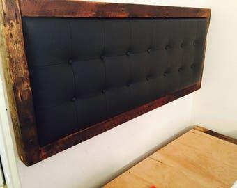 Headboard Queen headboard Wood headboard frame Tufted upholstered headboard Rustic headboard  Headboards Wall hanging headboard Custom