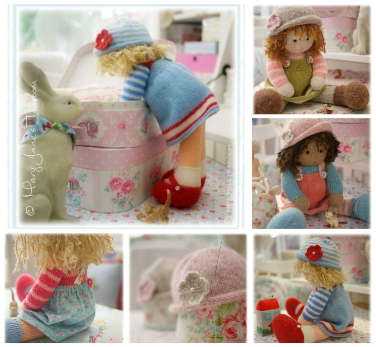 Doll Knitting Patterns Deal 4 Tearoom Dolls And Hats Toy Knitting