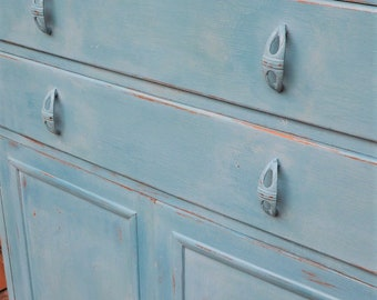 Painted 1940s Utility Tallboy cupboard