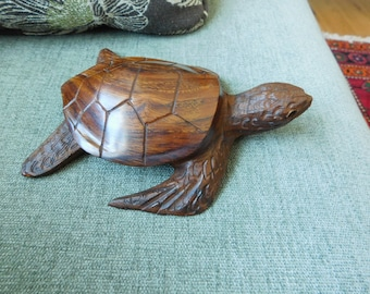 Vintage ironwood carved turtle