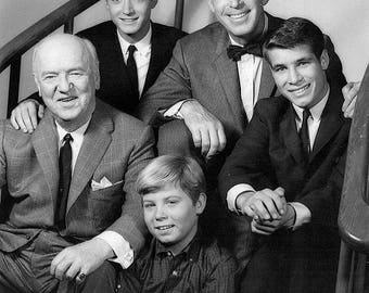 Publicity photo of the cast of My Three Sons , 1962