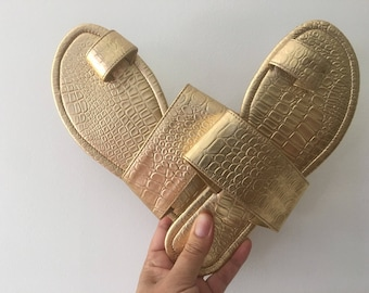 Gold Leather Sandals > Slides > New Design Available in Cinta Kamu Store > Bohemian Style > Wedding Fashion > Summer Trends
