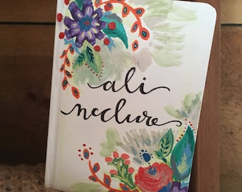 Customizable Bohemian Floral Inspired Journal