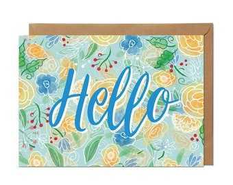 Hello - Greeting card