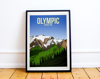 Olympic National Park - US National Parks - Art Print - (Available In Many Sizes)