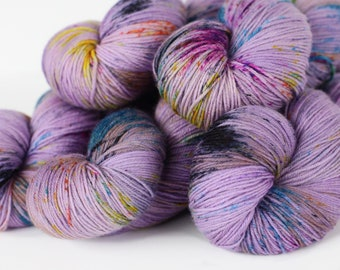 CUPCAKE 463 yards on 'Posh' Sock Yarn/ 4 ply merino, sprinkle dyed-speckle yarn