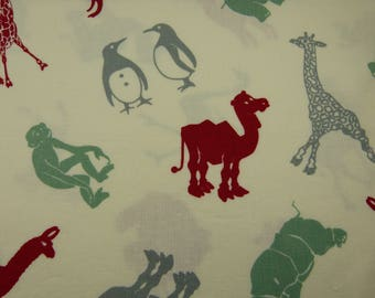 Hullabaloo animals in red, gray, green - FQ or more - Urban Chiks for Moda