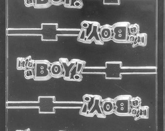 LOPB-070 - It's a Boy Chocolate Lollipop Mold