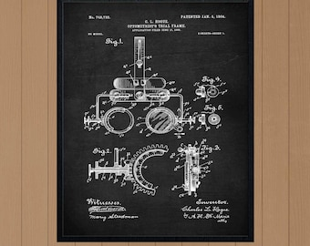 Trial Frame Patent, Optometry Gift, Optometry Art, Optometry Print, eyeglasses patent, optician wall art, optician art, optician poster