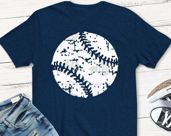 Baseball Svg Baseball Mom Distressed Baseball Svg Dxf Eps