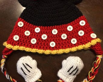 Minnie Mouse Crochet Hat Toddler Disney
